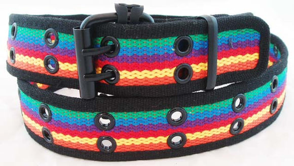DECORATED CANVAS RAINBOW BELT. RNBW-BLT4