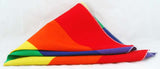 "22"" SQUARE RAINBOW BANDANA. WIDE STRIPE. RNBW-BND2"
