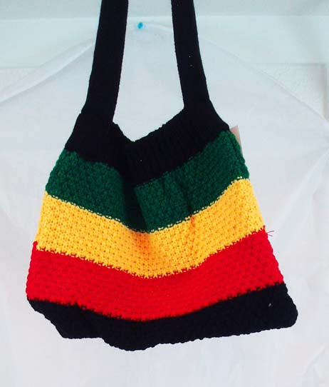 BEAUTIFUL KNITTED RASTA SHOULDER BAG. RST-BAG11