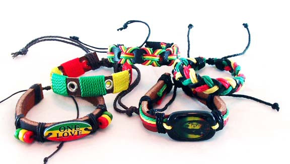 MIXED PACK OF 5 RASTA BRACELETS. RST-BR1