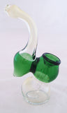 "5"" DECORATED  GLASS SHERLOCK STYLE HAND BUBBLER SB-11"