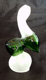 "4.5"" FROSTED AND COLORED GLASS SHERLOCK STYLE HAND BUBBLER SB-19"