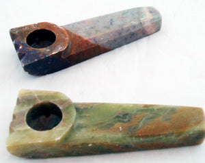"HARD TO FIND 3.5"" STONE HAND PIPE. OLD SCHOOL. STONE-6"