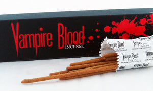 "15 GRAM PACK OF 9"" VAMPIRE'S BLOOD INCENSE STICKS.  VBLD"