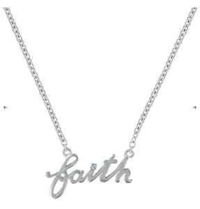 Written Faith Necklace NC3182