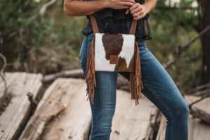 STS Cowhide Miss Kitty Purse