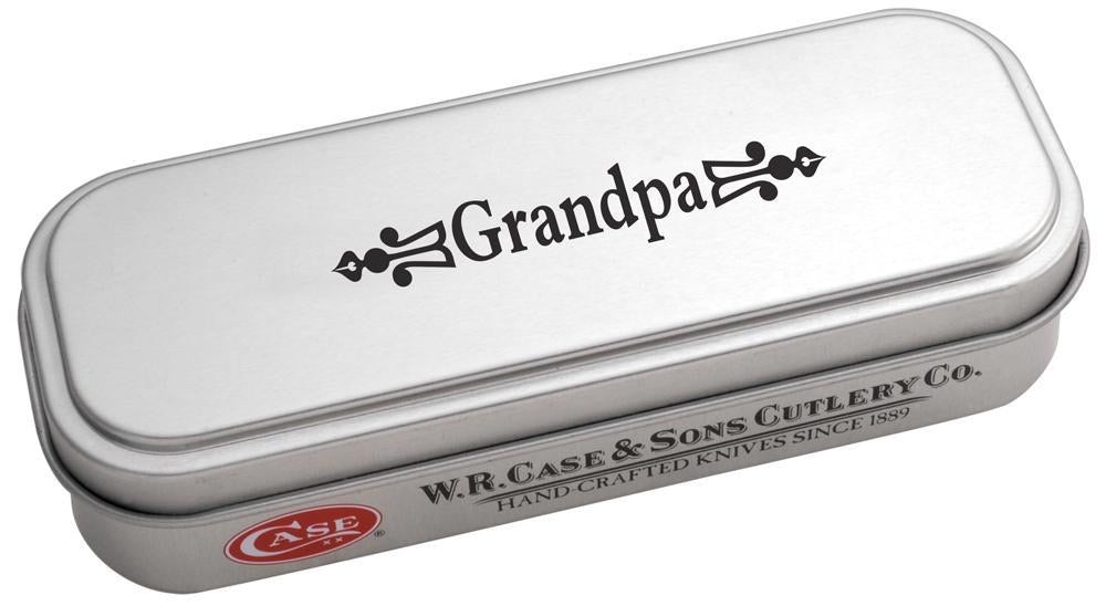 Grandpa Gift Tin Embellished Smooth Natural Bone Trapper (10373)