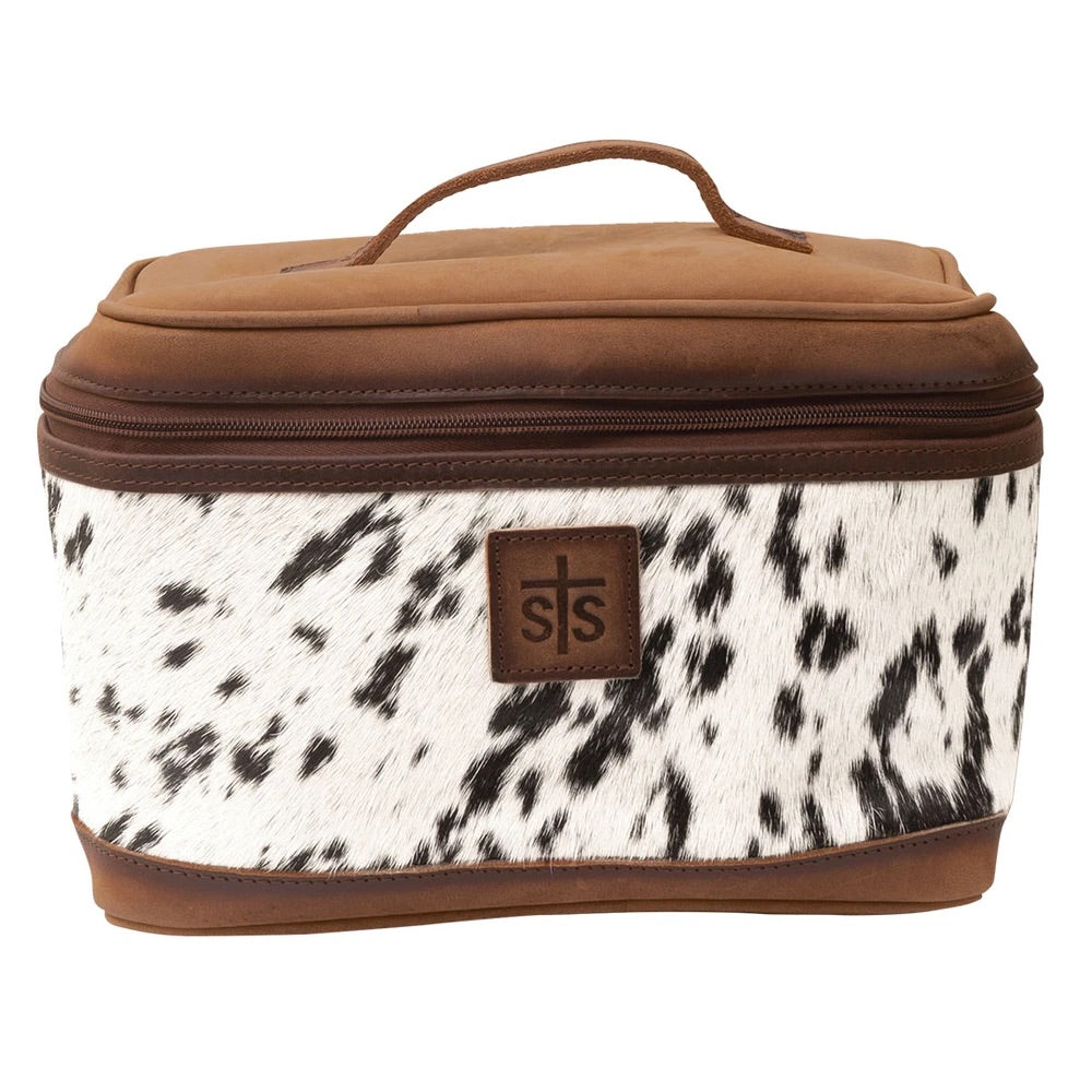 STS COWHIDE TRAIN CASE (8082)