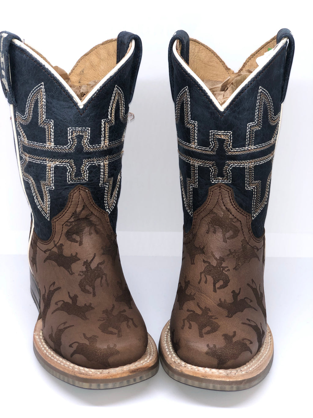 Tin Haul Kid's Rough Stock Boots w/Rodeo Poster Sole (0815)