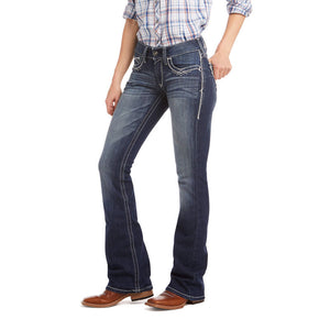 R.E.A.L. Mid Rise Stretch Entwined Boot Cut Jean Women's Cut (7510)