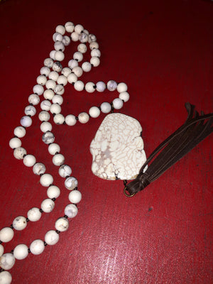 Pink Panache White Stone Necklace