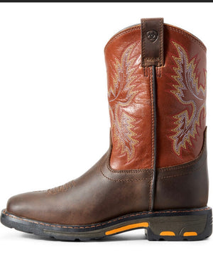 KIDS' WorkHog Wide Square Toe Boot (7837)