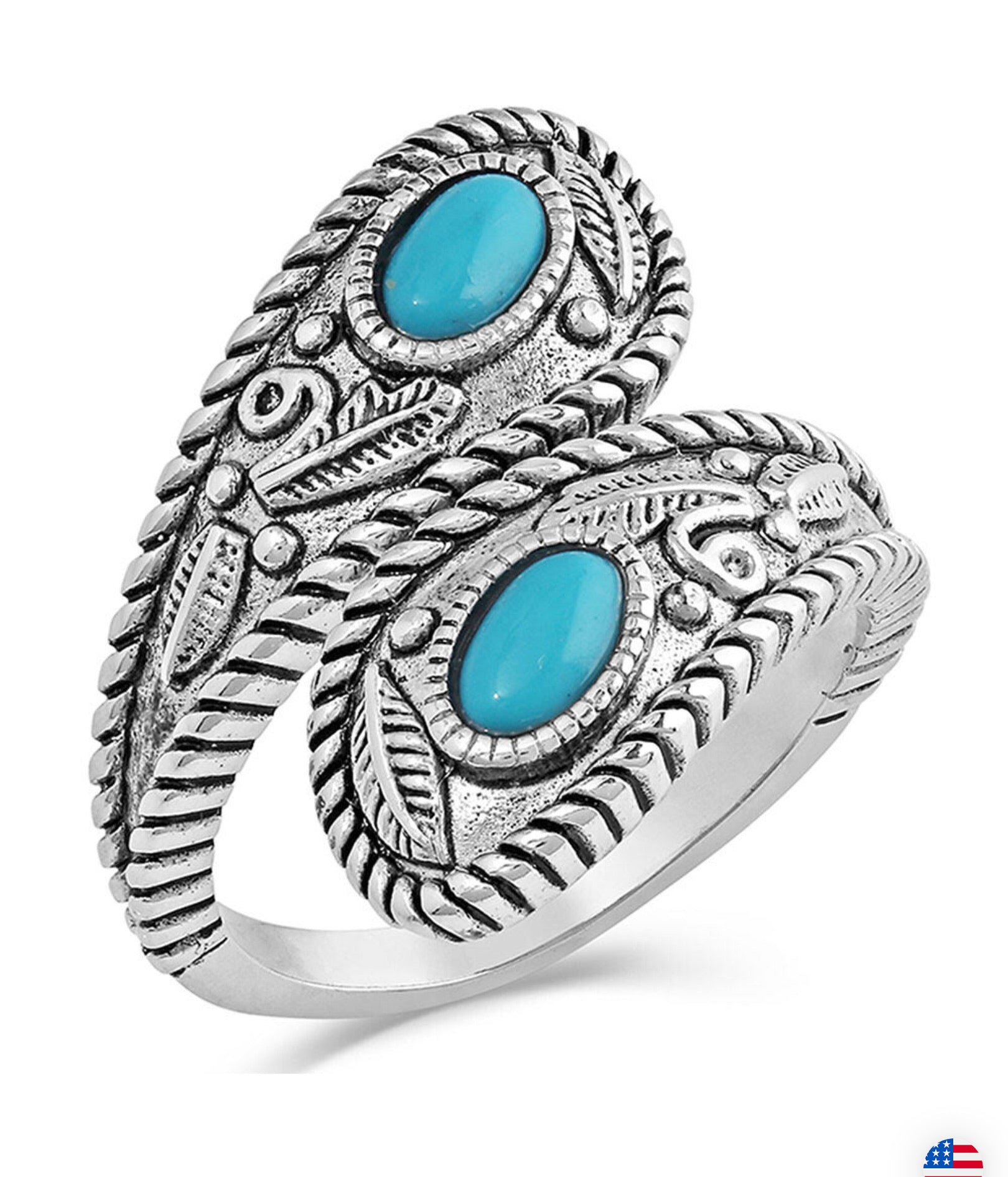 Montana Silversmiths Balancing The Whole Turquoise Open Ring