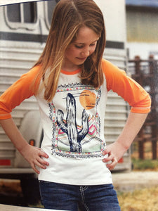 Cactus Sunset Girls Tee (0019)