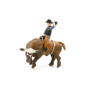 Little Busters Bucking Bull & Rider Toy Brown