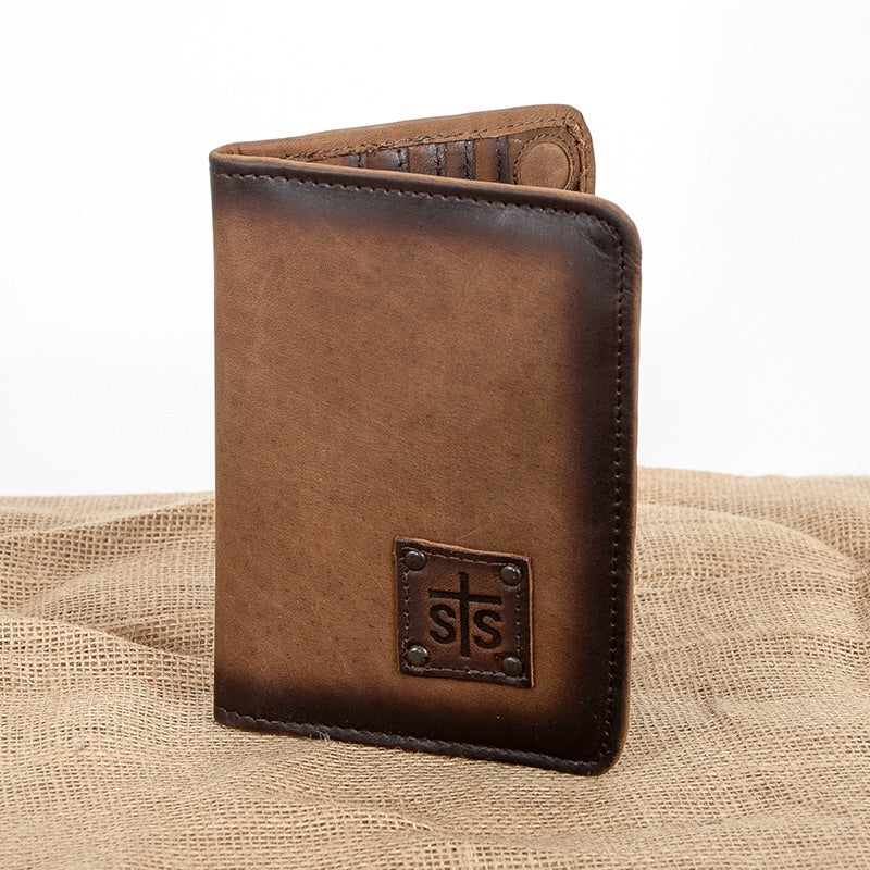 STS Magnetic Wallet - Brown (4050)