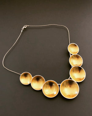 Multiple golden orbs necklace