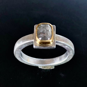 Oval diamante ring.  Size 7.