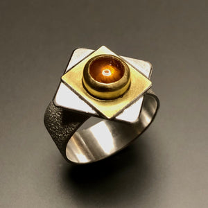 Spessartite ring.  Size 7.
