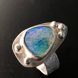 Large opal ring.  Size 7
