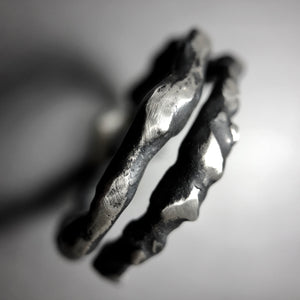 Organic sterling silver ring.  Adjustable size