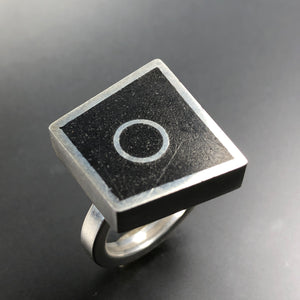 Polygon ring.  Size 7.