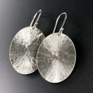 Textured ovals in sterling silver