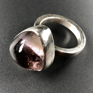 Pale lilac cocktail ring in sterling silver.  Size 7