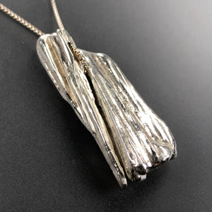 Chunky sterling silver necklace