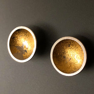 Golden orb post earrings