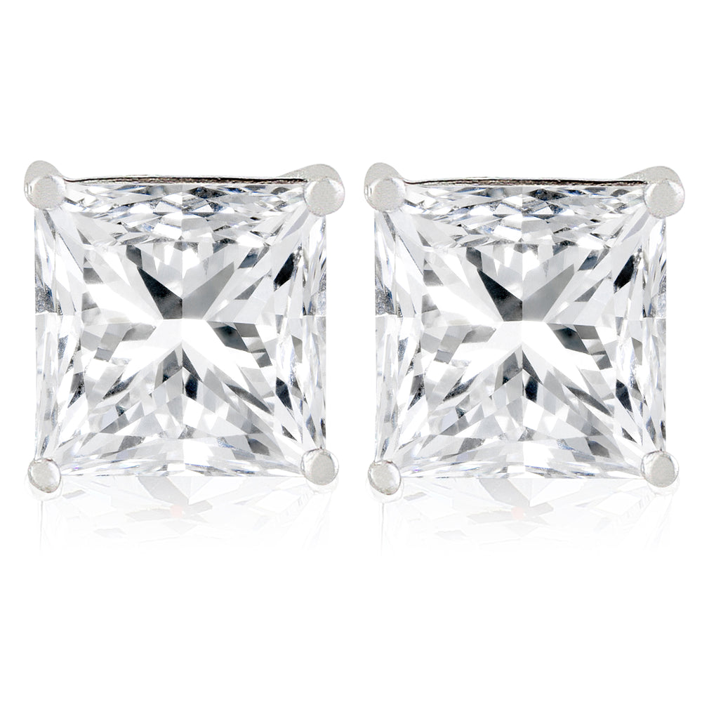 'Bellina' Princess Crystal Stud Earrings