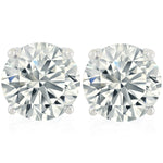 'Maxa' Round Crystal Stud Earrings - XL