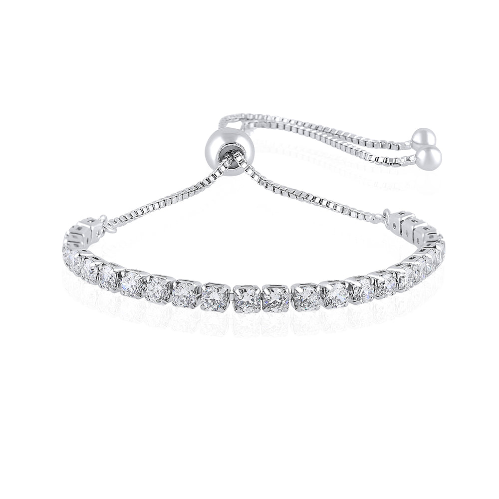 'Beren' Adjustable Crystal Tennis Bracelet