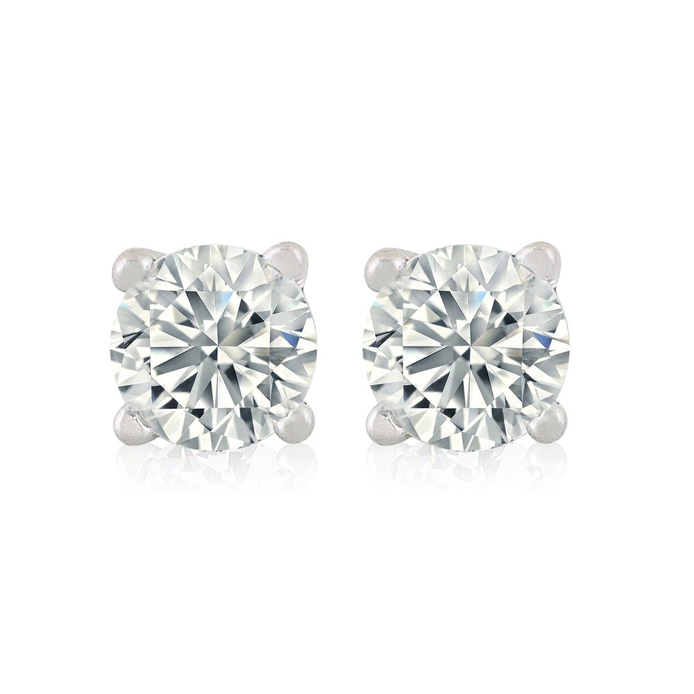 'Maxa' Round Crystal Stud Earrings - M