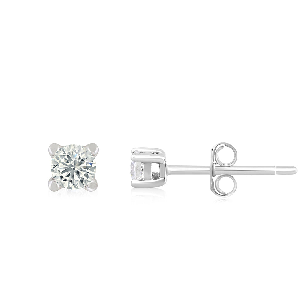 'Maxa' Round Crystal Stud Earrings - XS