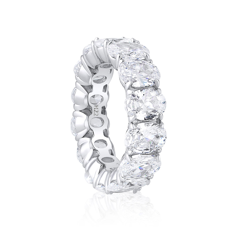'Aria' Oval Crystal Eternity Ring