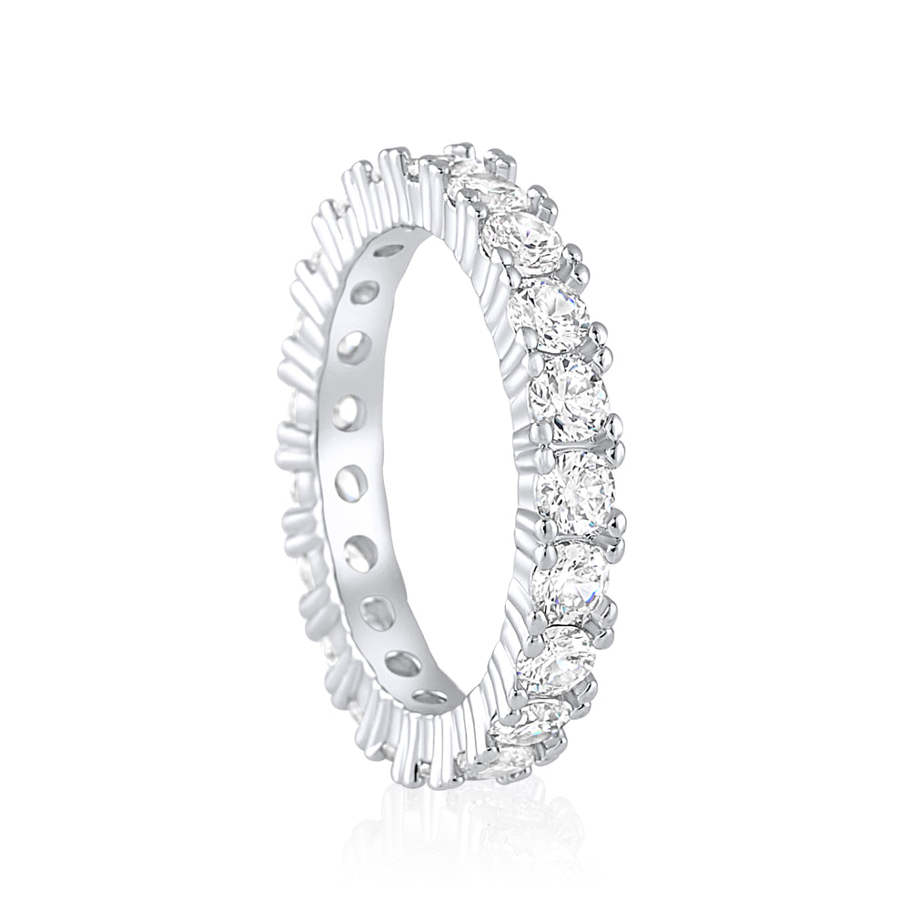 'Ayela' Round Cut Eternity Ring