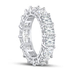 'Claudia' Asscher Cut Eternity Ring