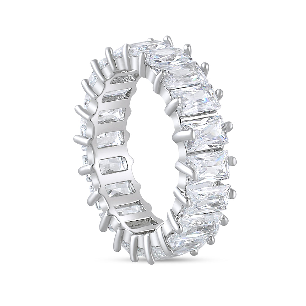 'Tyra' Emerald Cut Eternity Ring