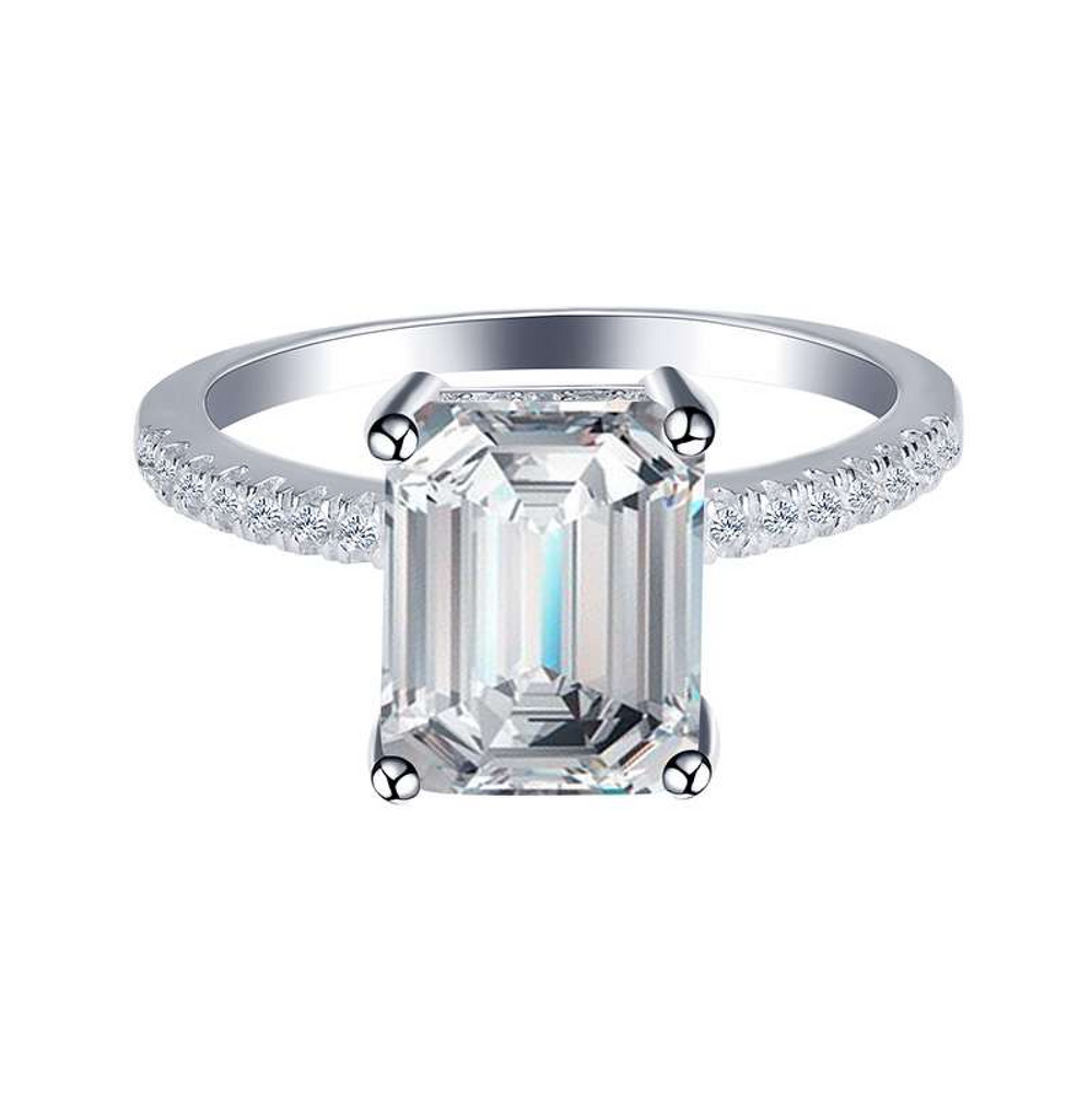 'Whitney' Emerald-Cut Crystal Ring