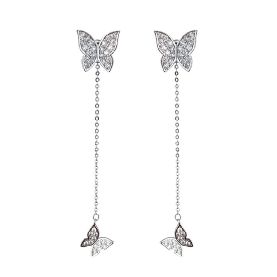 'Gloria' Butterfly Dangle Earrings