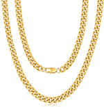 'Evelina' 6MM Cuban Link Chain Necklace - Gold