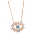 'Nadia' Crystal Evil Eye Necklace