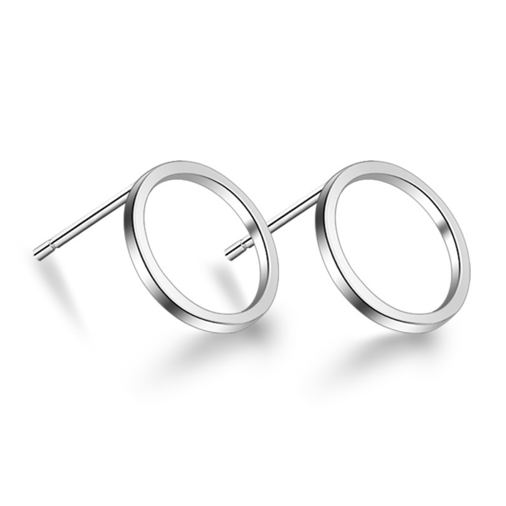 'Odette' Open Circle Stud Earrings