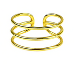 Round Triple Band Ring – Olita |Honey Twenty Two, Get ready to wrap bind your finger in the divinity of halo round ring! It eternity made up of pure sterling silver and polished in stunning gold to grasp attentions. Masterpiece by Honey Twenty Two!