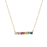 'Taila' Multicolor Baguette Necklace
