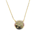 'Rania' Multicolor Crystal Pendant Necklace