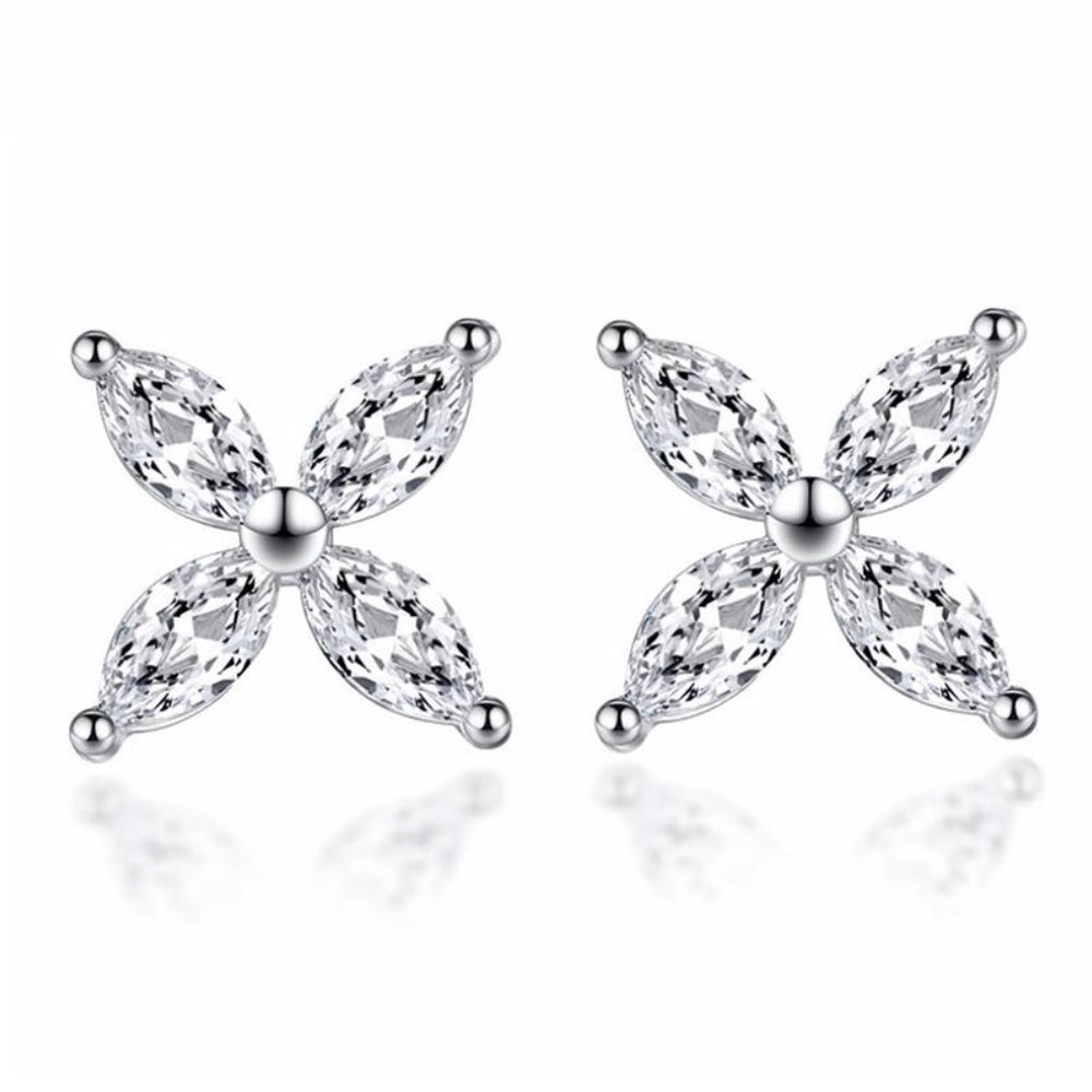 'Fleur' Crystal Stud Earrings