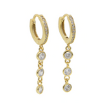 'Lareina' Crystal Mini Hoop Earrings