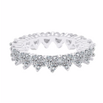 'Nalani' Crystal Heart Eternity Ring